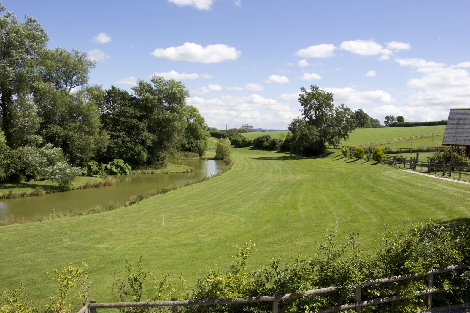 exclusive fishing lake with golf course and beautiful grounds