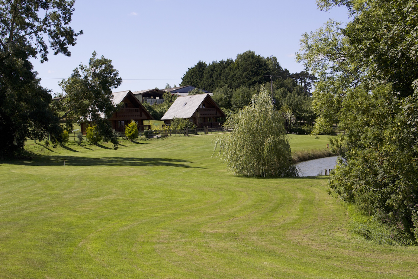 self catering lodge cabins with private lake